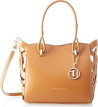 Damen Bluebell Ecoleather Smooth Shopping Bag Schultertasche, Braun (Leather), 36x24.5x14.5 centimeters Trussardi