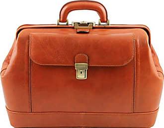 Leonardo - Elégante Mallette médecin en cuir - Miel Tuscany Leather