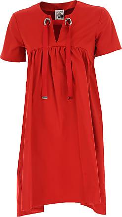 Dress for Women, Evening Cocktail Party On Sale, Orange, Cotton, 2017, 14 Twin-Set