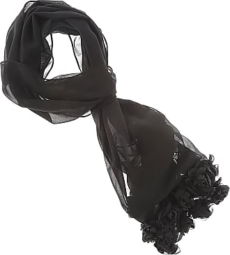 Scarf for Women On Sale, Black, Acrylic, 2017, Universal Size Twin-Set