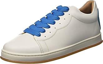 Twin Set Cs8pjj, Zapatillas de Gimnasia para Mujer, Blanco (BIC.Ottico Turchese), 36 EU