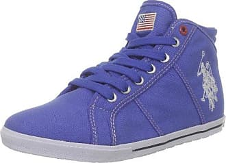 U.S.Polo ASSN. Twila Flowers, Zapatillas para Mujer, Multicolor (Blue-Silver BLU-SIL), 38 EU