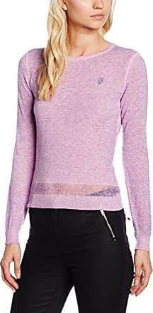 U.S.Polo Association Travel R.Neck Knit, Camiseta Térmica para Mujer, Azul, X-Small