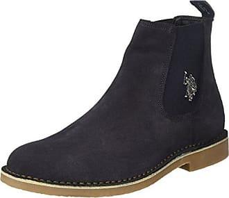 U.S. Polo Leder-Chelsea Boots Venus in Dunkelrot - 61%