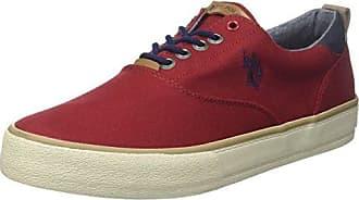 U.S.Polo ASSN. Theo, Zapatillas para Hombre, Rojo (Red Red), 44 EU