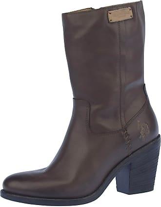 U.S. Polo Leder-Boots Timmy in Dunkelbraun - 60%