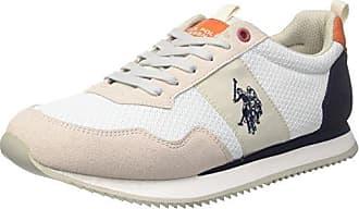 U.S.Polo ASSN. Tebio, Zapatillas para Hombre, Blanco (White WHI), 41 EU U.S.Polo Association