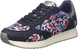 U.S.Polo ASSN. Twila Flowers, Zapatillas para Mujer, Multicolor (Blue-Silver BLU-SIL), 35 EU