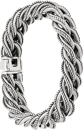 Ugo Cacciatori rope embossed bracelet - Metallic