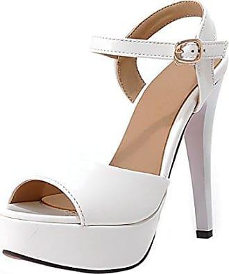 UH Damen Open Toe Flach Gladiator Sandalen mit Nieten und Reißverschluss Bequeme Sommer Schuhe Günstig Kaufen 69BdPhF