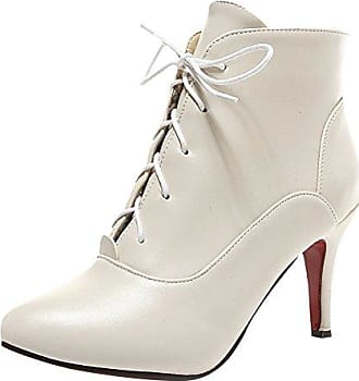 SHOWHOW Damen Sexy Klassischer Winter Boots Spitz High Heels Damenstiefel Grün 40 EU