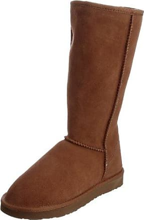 FitFlop Loaff Slouchy Knee, Bottes Doublées Femme - Marron (Dark Brown), 36 EU (3 UK)