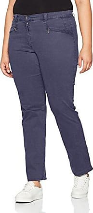 Ulla Popken Stretchhose Mony L, Pantalones para Mujer, Blanco (Weiss 20), 48