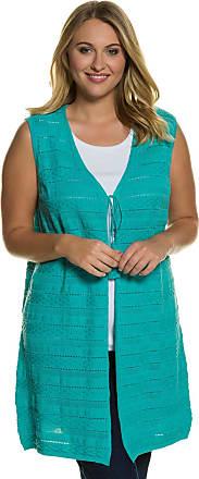 Große Größen Ulla Popken Damen Longshirt, V-Ausschnitt, Halbarm, reine Baumwolle, Blau, Gr. 42/44,46/48,50/52,54/56,58/60 Ulla Popken