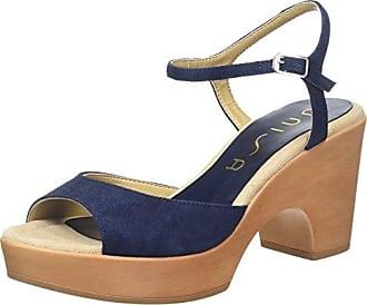 Ordino_KS, Sandales Bout Ouvert Femme, Bleu (Sapphire), 38 EUUnisa