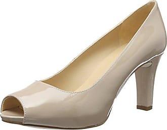Unisa Nazo_18_lmt, Zapatos de Tacón con Punta Abierta para Mujer, Plateado (Steel), 39 EU