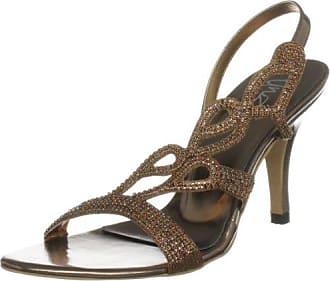 Unze Evening Sandals L18516W - Sandalias para mujer, color marrón, talla 40