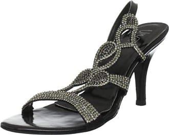 Unze Evening Sandals, Sandali donna, Nero (Schwarz (L18531W)), 36