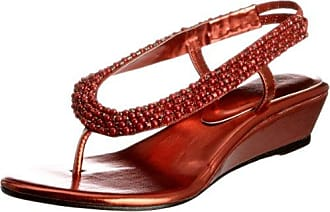Unze Evening Sandals, Sandali donna, Rosso (Rot (L18380W)), 36