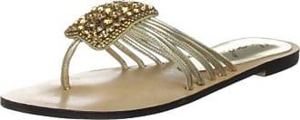 Unze Evening Slippers L18325W - Sandalias para mujer, color dorado, talla 39