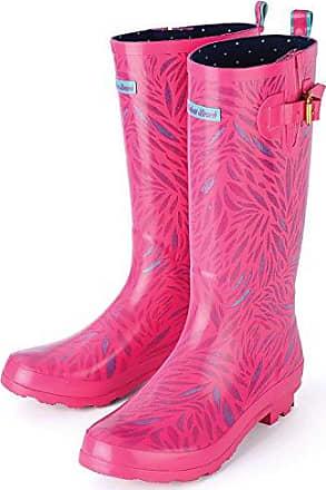 Playshoes Trendiger Damen Gummistiefel Karo 190107, Damen Gummistiefel, Pink (rose 14), EU 37