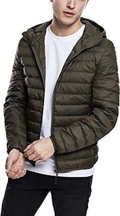 Basic Hooded Down Jacket, Chaqueta para Hombre, Grau (Darkgrey 94), Small Urban Classics