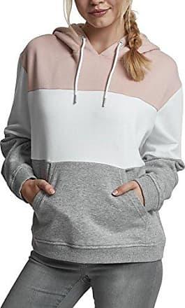 Urban Classics Ladies Oversize 3-Tone Hoody, Sudadera con Capucha para Mujer, Multicolor (Light Rose/White/Grey 01221), X-Small