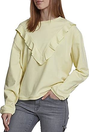 Urban Classics Ladies Terry Volant Crew, Jersey para Mujer, Rosa (Coral 00092), X-Small
