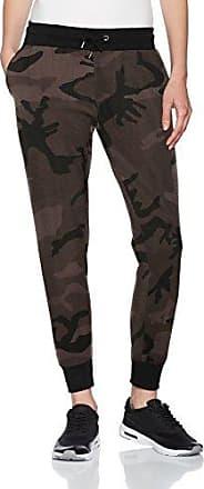 Urban Classics Ladies Terry Pants, Pantalones Deportivos para Mujer, Mehrfarbig (Dark Camo/Black 1058), W28