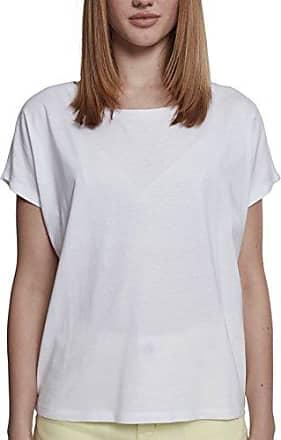 Shirt Basic Viscon Tee - T-Shirt Femme, Blanc (Offwhite) - Medium (Taille fabricant: Medium)Urban Classics