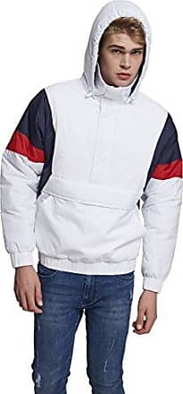 3 Tone Pull Over Jacket, Chaqueta para Hombre, Multicolor (White/Navy/Fire Red 01244), X-Large Urban Classics
