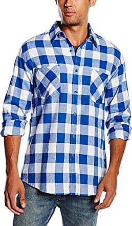 Checked Flanell Shirt - Chemise Homme, Multicolore (Blk/Wht) - XX-Large (Taille fabricant: XX-Large)Urban Classics