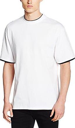 Urban Classic Contrast Panel Tee, T-Shirt Homme, Mehrfarbig (Navy/Powder Yellow 01364), XX-LargeUrban Classics