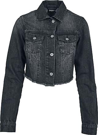 Jeansjacke mit fell schwarz damen