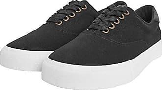Urban Classics Unisex-Erwachsene Velour Sneaker, Mehrfarbig (Blk/Stripes), 41 EU