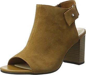 Sandal, Sandales Bout Ouvert Femme - Or - Gold (Tan/Black), 36Xyxyx