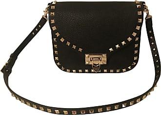 gebraucht - Rockstud Crossbody Bag - Damen - Bordeaux - Leder Valentino