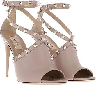 Valentino Rockstud Sandals High Block Heel Rubino in rot Sandalen für Damen