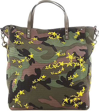 Valentino Tote Bag, Military Green, Fabric, 2017, one size