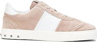 Valentino Garavani Camouflage Sneaker aus rosanem und navyblauem Wildleder
