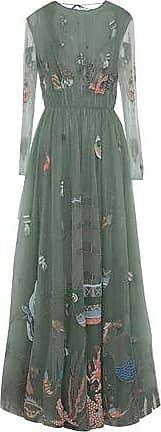 Valentino Woman Point Desprit And Lace-paneled Printed Cotton Mini Dress Multicolor Size 40 Valentino