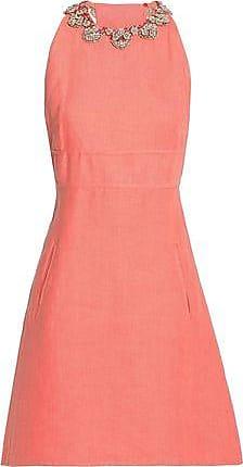 Valentino Woman Bead-embellished Linen Mini Dress Mint Size 40 Valentino