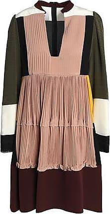 Valentino Woman Fringe-trimmed Voile Mini Dress Black Size 38 Valentino