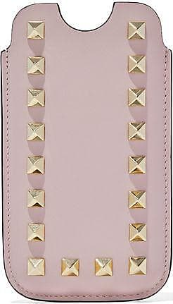 Valentino Woman Rockstud Leather Iphone 5 Case Bright Pink Size Valentino