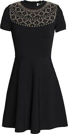 Valentino Woman Studded Cady Mini Dress Black Size S Valentino