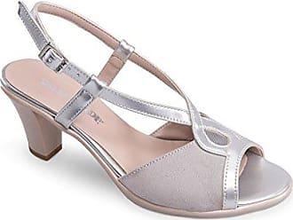 Damen Sandalen, Silber - Silber/Schwarz - Größe: 39 EU Valleverde