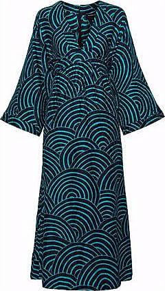 Vanessa Seward Woman Gathered Silk-jacquard Midi Dress Navy Size 34 Vanessa Seward