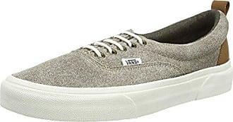 Authentic Slim, Sneakers Basses Mixte Adulte, Marron (Brushed Twill/Caribou/Blanc de Blanc), 34.5 EU (2.5 UK)Vans