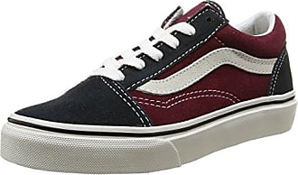 Vans Old Skool VW9TGXR Unisex-Erwachsene Sneakers Mehrfarbig (Vintage/Blue Graphite/Windsor Wine) 28 EU