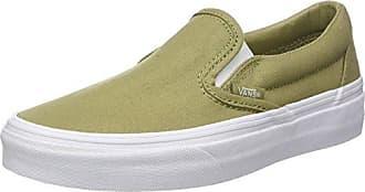 Vans Classic Slip-on, Zapatillas Sin Cordones Para Mujer, Verde (Checkerboard), 43 EU